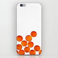 Crystal Balls Orange iPhone & iPod Skin