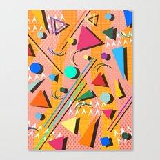 80s Pop Retro Pattern Canvas Print