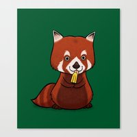 Red Panda Lolly Canvas Print