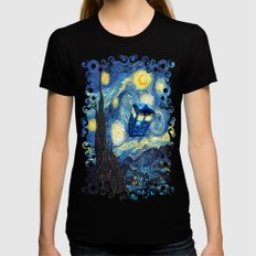 Soaring Tardis doctor who starry night iPhone 4 4s 5 5c 6, pillow case, mugs and tshirt Womens Fitted Tee Black SMALL