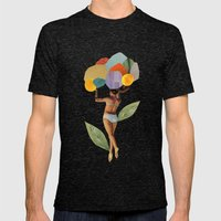 I Walk Out In The Flower… Mens Fitted Tee Tri-Black SMALL