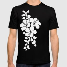 Hibiscus Animal: Ivory  Mens Fitted Tee Black SMALL