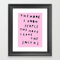 THE SMITHS Framed Art Print