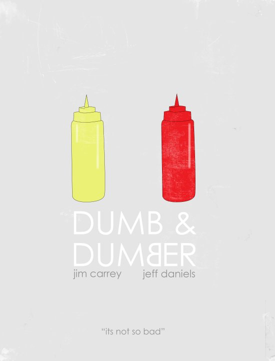 Dumb and Dumber Movie Poster. Art Print