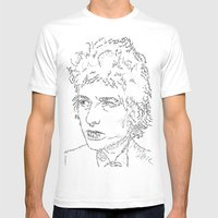 Bob Dylan WordsPortrait  Mens Fitted Tee White SMALL