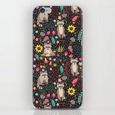 Raccoons Bright Pattern iPhone & iPod Skin