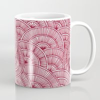 Swirls Red Mug
