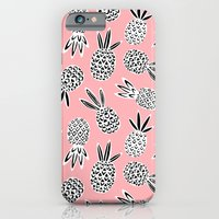 iPhone Cases featuring Pineapple by Sian Keegan