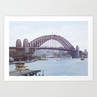 The harbour bridge Art Print