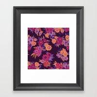 Floral in purple tones Framed Art Print