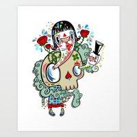 Polypop The Skull Art Print