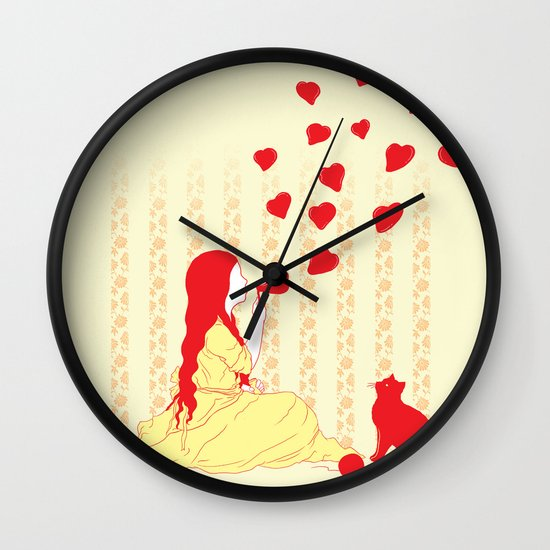 Bubbly Hearts Wall Clock