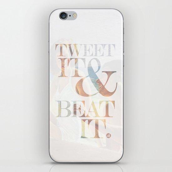 tweet it & beat it. iPhone & iPod Skin
