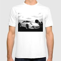Porsche 911 Turbo Mens Fitted Tee White SMALL