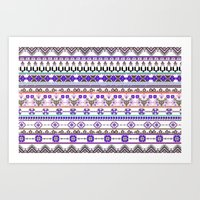 Purple Tradition Art Print