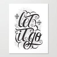 let it go Canvas Print