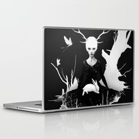 bunny Laptop & iPad Skins featuring Space Within by Ruben Ireland
