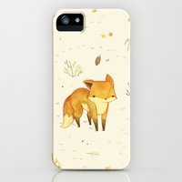 iPhone 5s & iPhone 5 Cases featuring Lonely Winter Fox by Teagan White
