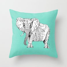 two ways to see one elephant Throw Pillow