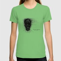 Scribble Face Womens Fitted Tee Grass SMALL