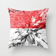 Indonesia Flag - Extrude Throw Pillow