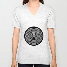 Simple Modern Stripes Circular Print Unisex V-Neck