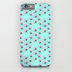 Floral Fans Aqua Mint iPhone 6s Slim Case