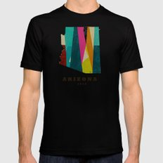 arizona state map modern Mens Fitted Tee SMALL Black