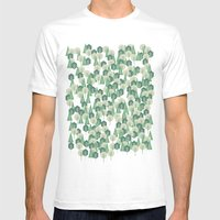 Geometric Woods Mens Fitted Tee White SMALL