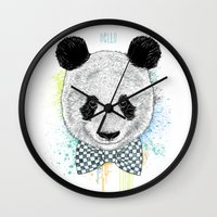 Hello Panda Wall Clock