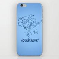 Mountaineer! (blue) iPhone & iPod Skin