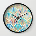 Vintage Twenties Art Deco Pastel Pattern Wall Clock