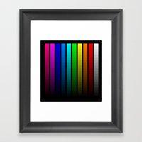 Color Scale Framed Art Print