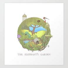 The Elephant's Garden - … Art Print