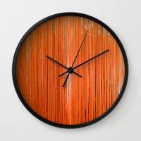 ORANGE STRINGS Wall Clock