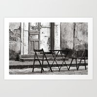 Just Two Chairs - Catania - Sicily - Italy  Art Print