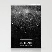 quote Stationery Cards featuring STARGAZING IS LIKE TIME TRAVEL by Amanda Mocci