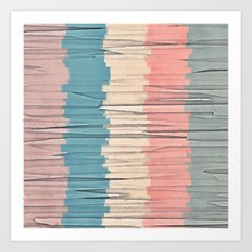 Colorful Grunge Stripes Art Print