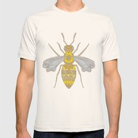 Mr Bee Mens Fitted Tee Natural SMALL