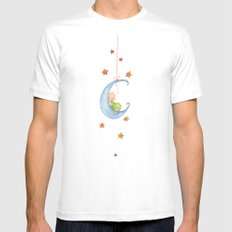 Baby moon SMALL White Mens Fitted Tee