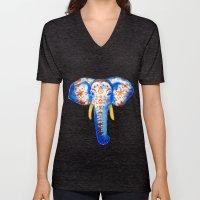 Elephant Watercolor Print Unisex V-Neck