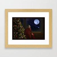 Waiting Santa II Framed Art Print