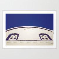 Santorini Churches IV Art Print