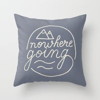 Nowhere Going Throw Pillow