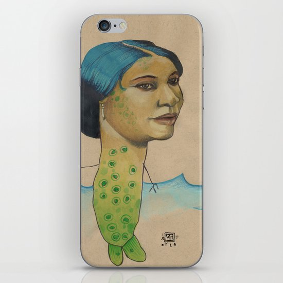 LONELY MERMAID iPhone & iPod Skin