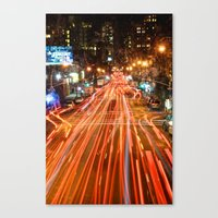 City Traffic In The Nigh… Canvas Print