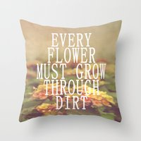 Every Flower Throw Pillow