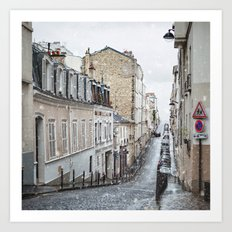Montmartre, Paris. Art Print