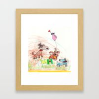 :: Underdogs Party-on-the-Lawn :: Framed Art Print
