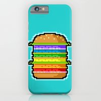 Pixel Hamburger iPhone 6 Slim Case